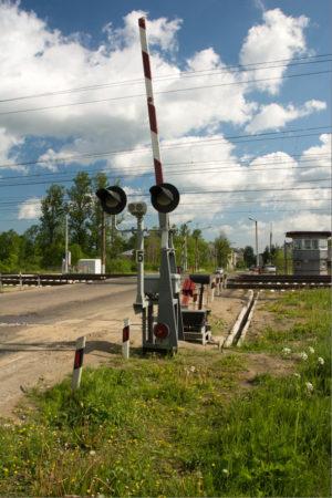 Автоматический шлагбаум жд переезда ПАШ-1