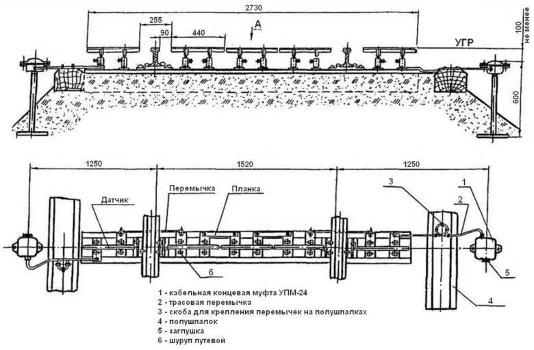 Монтажная схема установки УКСПС