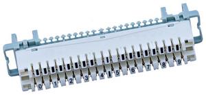 Плинт с размыкаемыми контактами на 10 пар N116-10 Dc