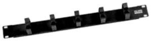"""Кабельный органайзер 19"""", 1U, металлические кольца, чёрный N139-CM1"""