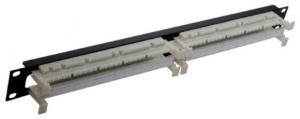 """Коммутационная панель 110, 19"""", 1U, 100 пар НXL-4020-1A, коннекторы, рамка, крепление в комплекте"""