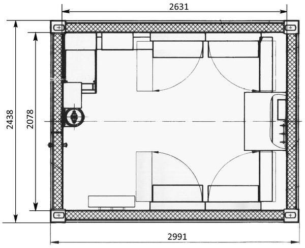 Габаритные размеры основания модуля МАП