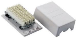 Настенный распределительный бокс для 1-3 плинтов, 10-30 пар, пластиковый, 153×105×56 НXL-026C