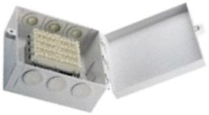 Настенный распределительный бокс для 1-5 плинтов, 10-50 пар, пластиковый, 204×190×106