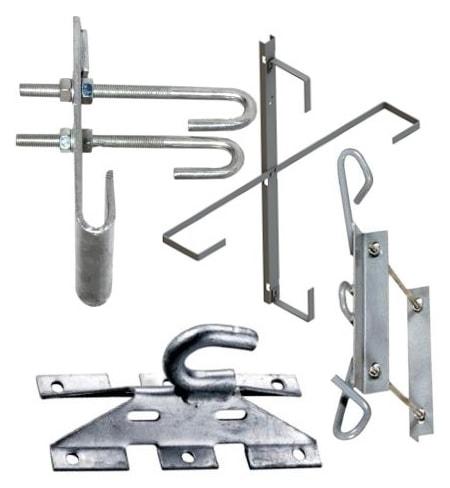 Крюки, крепления, узлы для волоконно-оптического кабеля